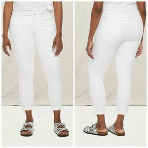 NWT A.N.A White Mid Rise Skinny Ankle Jeans Sz 8P